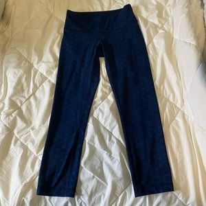 Navy Blue Star Design Lululemon Crop Leggings